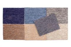 Muestras del rectángulo de la alfombra Fotografía de archivo