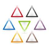 Muestras del triángulo Fotos de archivo libres de regalías