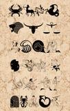 Muestras del zodiaco Foto de archivo