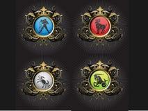 Muestras del zodiaco Fotografía de archivo