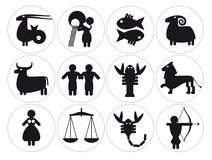 Muestras del zodiaco Fotos de archivo libres de regalías