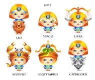 Muestras del zodiaco 2 stock de ilustración