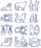 Muestras del zodiaco imagenes de archivo