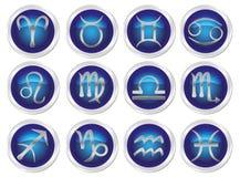 Muestras del zodiaco del horóscopo libre illustration