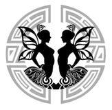 Muestras del zodiaco - géminis Imagen de archivo libre de regalías