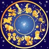 Muestras del zodiaco, horóscopo foto de archivo