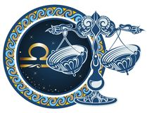 Muestras del zodiaco - libra libre illustration
