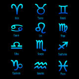 Muestras del zodiaco - vector stock de ilustración