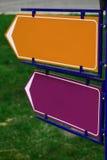 Muestras direccionales Imagen de archivo libre de regalías