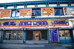 Muestras en Coney Island Fotografía de archivo
