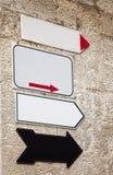 Muestras en la pared de piedra Fotografía de archivo