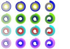 Muestras espirales coloridas Imágenes de archivo libres de regalías