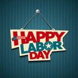 Muestras felices del americano del Día del Trabajo ilustración del vector