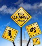 Muestras grandes de los cambios a continuación Imagen de archivo libre de regalías