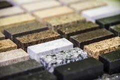 muestras interiores del color de la encimera del granito de la cocina imagen de archivo libre