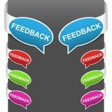 Muestras laterales izquierdas y derechas - feedback stock de ilustración