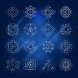 Muestras mágicas de la geometría del vector Fotografía de archivo libre de regalías