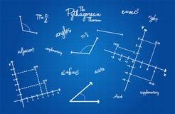 Muestras matemáticas de la geometría Imágenes de archivo libres de regalías