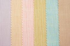 Muestras multi de la textura de la tela del color foto de archivo
