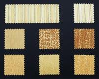 Muestras multicoloras de la tela de los muebles imagen de archivo