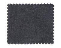 Muestras negras de la muestra de la tela aisladas en blanco Imagen de archivo