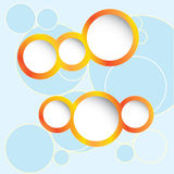 Muestras para las escrituras de la etiqueta, anillos libre illustration