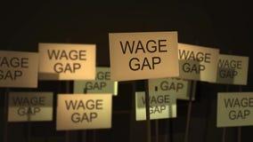 Muestras que agitan de las series de la protesta o de la conciencia - salario Gap libre illustration