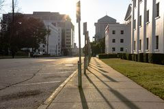 Muestras reservadas del estacionamiento en Monroe Street Imagen de archivo libre de regalías