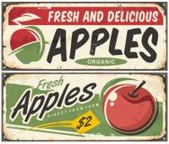 Muestras retras de las manzanas stock de ilustración
