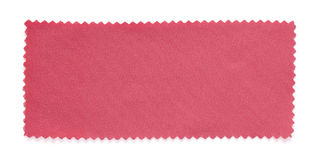 Muestras rosadas de la muestra de la tela aisladas Foto de archivo