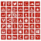 Muestras sociales del logotipo del establecimiento de una red del app de los medios Foto de archivo