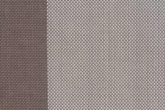 muestras tejidas plástico marrón de la tela, fondo de la textura imagen de archivo