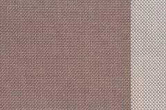 muestras tejidas plástico marrón de la tela, fondo de la textura imágenes de archivo libres de regalías