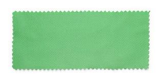 Muestras verdes de la muestra de la tela Foto de archivo libre de regalías