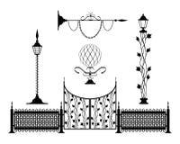 Muestras y decoración de la vendimia del hierro labrado Foto de archivo
