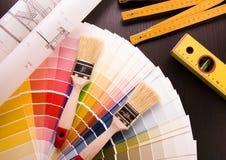 Muestras y plan del color imágenes de archivo libres de regalías