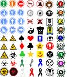 Muestras y símbolos Imagen de archivo libre de regalías
