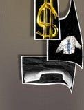 Muestras y símbolos abstractos de hacer el asunto - beneficios - rompecabezas Imagen de archivo