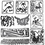 Muestras y símbolos antiguos Fotografía de archivo libre de regalías