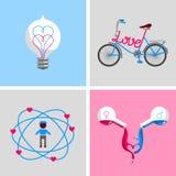 Muestras y símbolos del amor Fotografía de archivo libre de regalías