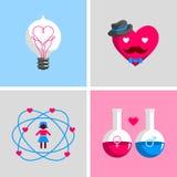 Muestras y símbolos del amor Imágenes de archivo libres de regalías