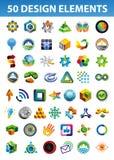 Muestras y símbolos para su identidad corporativa Imagen de archivo libre de regalías