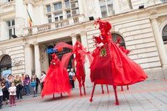 Muestre B-FIT interior en la calle Bucarest 2014 Fotos de archivo libres de regalías