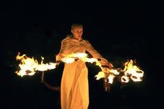 Muestre con el fuego Fotografía de archivo