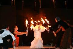 Muestre con el fuego Fotos de archivo libres de regalías