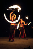 Muestre con el fuego Foto de archivo libre de regalías