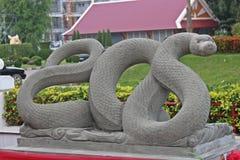 Muestre el molde del año de la serpiente en ciclo de 12 años Fotos de archivo