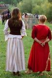 Muestre el torneo medieval con los caballos Fotografía de archivo