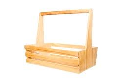 Muestre isométrico las cestas hechas de la madera Imagen de archivo