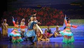 Muestre la luna del ballet del baile-Hui sobre Helan Imagenes de archivo
